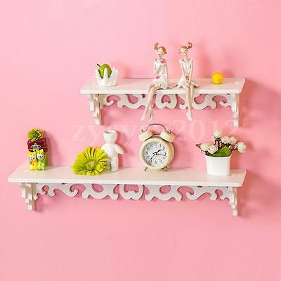 NEW White Shabby Chic Filigree Style Shelves Cut Out Design Wall Shelf Home UK
