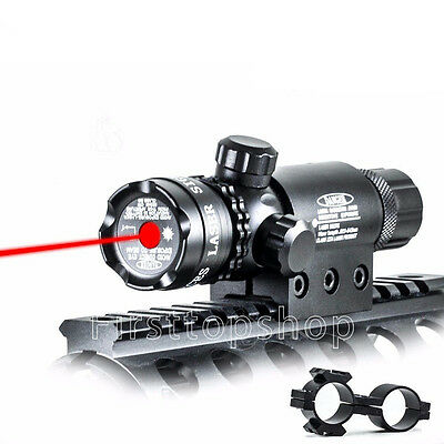 Red dot Laser Sight Light for Rifle scope with Rail Mounts+Cap&Pressure Switches