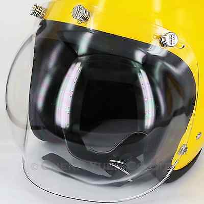 Silver Paw 3-Snap Bubble Optical Clear Shield Motorcycle Helmet Visor Face Mask