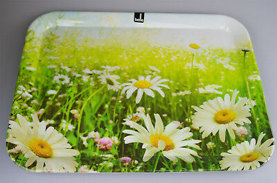 Dining Tray Melamine Food Drink Party BBQ Tableware Daisy Design