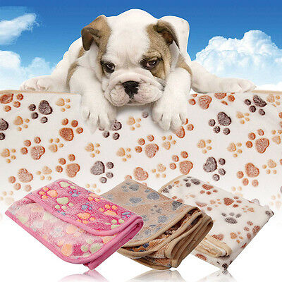 Hamsters Pad Blanket Pet Cat Mat Dog Puppy Soft Warm Bed Paw Pattern Cover New
