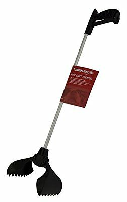 Green Jem Dog Poo Poop Scoop Dirt Picker Tool With Long Reach Handle & Hygienic