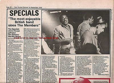 SPECIALS Selecter Hammersmith Odeon  concert review 1979 UK ARTICLE / clipping