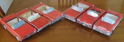 6 ~ 1957 Chevy Cardboard Cars  YELLOW Food Box Serving Tray Party Favor