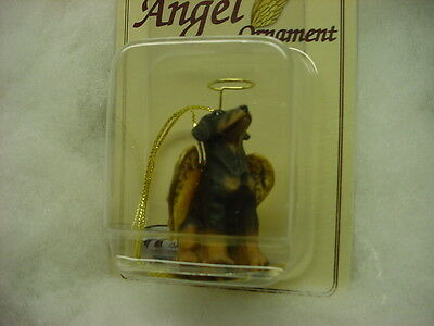 DOBERMAN dog ANGEL Ornament Figurine Statue Christmas uncropped black tan puppy