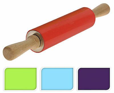 Large Non Stick Silicone Rolling Pin For Baking Pastry Roller Kitchen Utensil