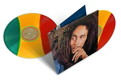 Bob Marley LEGEND (B0020867-01) Best ESSENTIAL New Rasta Tri-Colored Vinyl 2 LP