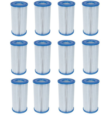 12 Pack Bestway Type III A/C Filter Cartridge for 1000 & 1500 GPH Filter Pumps