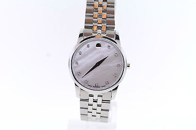 Ladies Movado 0606612 MUSEUM CLASSIC MOP Stainless Steel Diamond Accent Watch