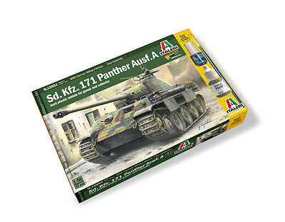 Italeri 1/56 Scale Plastic Model Kit German 171 Panther Ausf A It15652