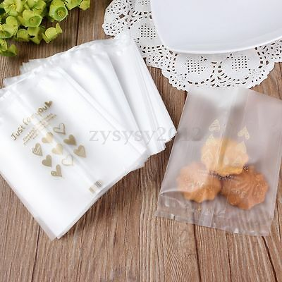 100x Self Seal Clear Cellophane Cookie Birthday Wedding Party Souvenir Gift Bags