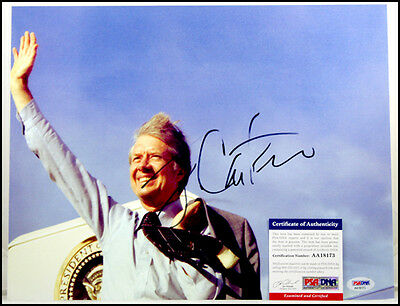Jimmy Carter Autographed Signed 11X14 Photo Picture 39Th President Psa/dna Coa