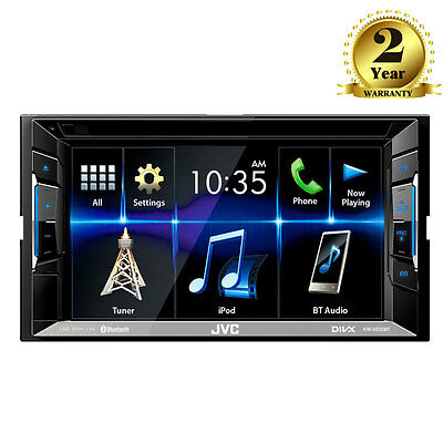 """JVC KW-V220BT 6.2"""" Touch Screen Double Din CD Car Stereo Bluetooth iPod iPhone"""