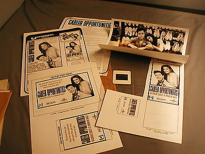 PRESS KITS - CAREER OPPORTUNITIES -1990 - CONNELLY - GLOSSY, AD & SLIDE  17 x kl
