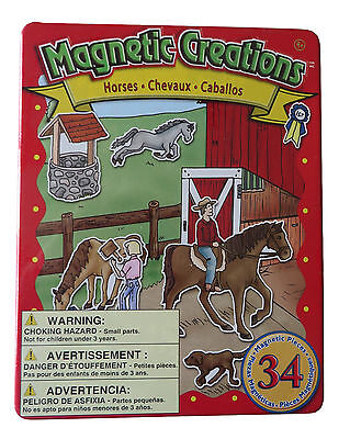 Magnetic Creations 34 Pieces - Horses (BT82)