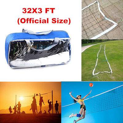 NEW Standard Volleyball Net Official Size 32x3 FT Beach Indoor Outdoor Frame Net