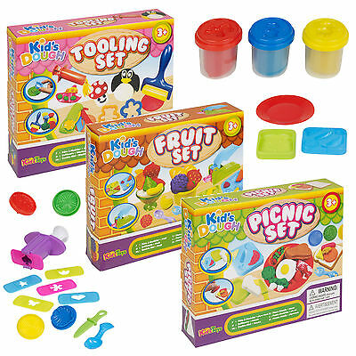 Tooling Fruit Picnic Fun Play Dough Sets Modelling Kids Toys Crafts Shapes Gift
