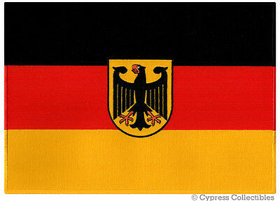 LARGE GERMAN FLAG PATCH embroidered iron-on GERMANY Aufnäher Deutschland HUGE