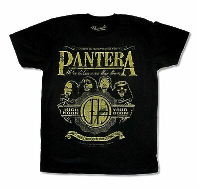 "Pantera ""your Doom"" Black T-Shirt New Official Adult Metal Band Music Cowboys"
