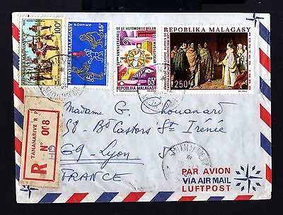 8476-MADAGASCAR-AIRMAIL REGIST.COVER TANANARIVE to LYON(france)1969.French.AFRIC