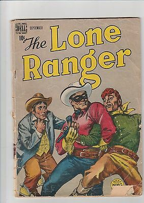 Lone Ranger #15 G- 1949 Dell Comic