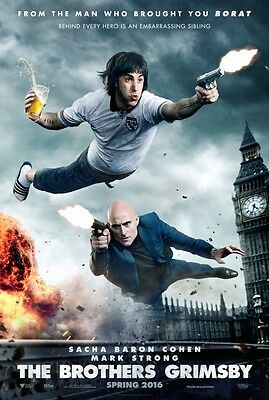 Brothers Grimsby - original DS movie poster  D/S 27x40 Advance