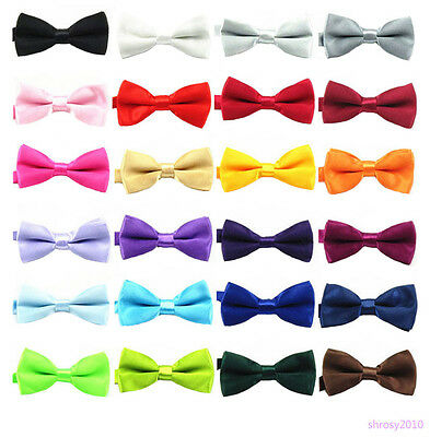 Children Kid Boys Toddler Infant Bowtie Pre Tied Clip on Wedding Bow Tie BHB0003