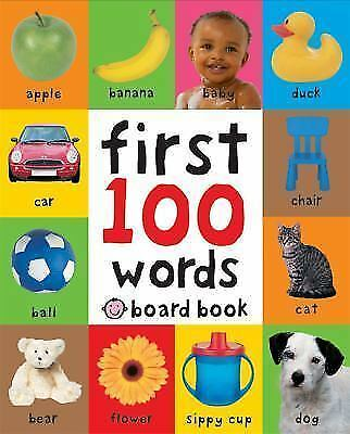First 100 Words by Roger Priddy (Board Book) - I send worldwide - Bestseller
