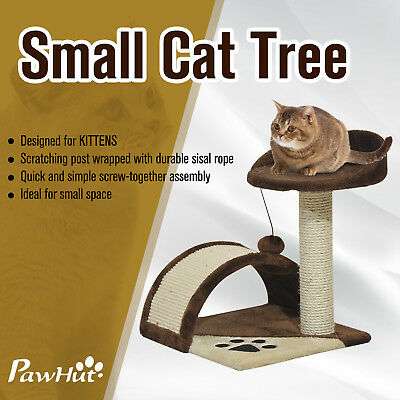 PawHut Cat Tree Post Scratcher Pet Furniture House Kitten Scratching Toy  New