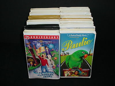 Lot of 12 Family Kids Childrens Video Tape VHS Movies Videos
