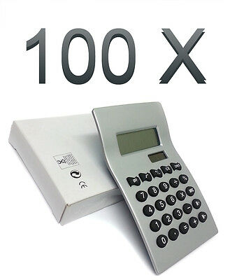Wholesale Carton Of 100 Wave Calculators Solar Battery Ideal For Office / School