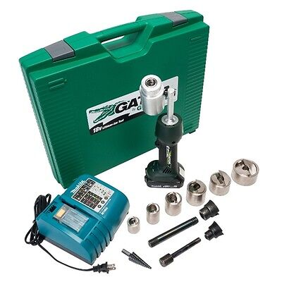 "Greenlee LS50L11SBSP Gator 18V Li-Ion Cordless Speed Punch Kit, 1/2""-2"""