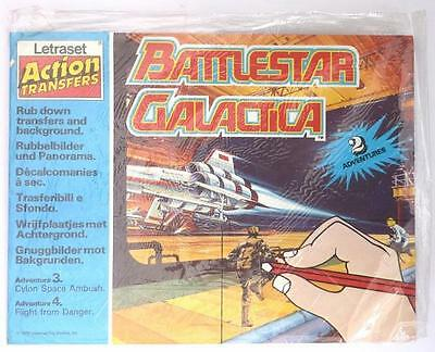 Rare Vintage 1979 Battlestar Galactica Letraset Action Transfers Rub Down Set
