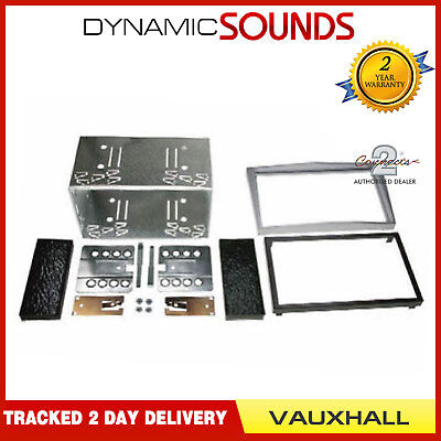 Double Din Stereo Facia Fascia Fitting Kit Silver For VAUXHALL Zafira 2005-2012