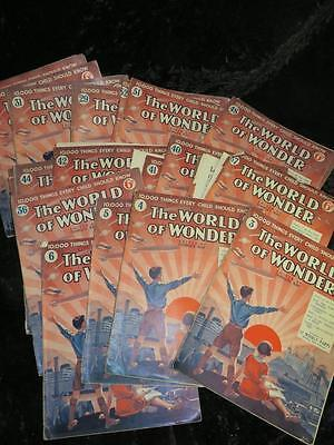 "VINTAGE ""The WORLD of WONDER""  MAGAZINE 1st Series 1932/33 Selection Available"