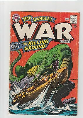 Star Spangled War #134 G 1967 DC Comic Giant Lizard Boat