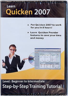 Learn Quicken 2007 Premier step-by-step training tutorial learning CD-ROM NEW
