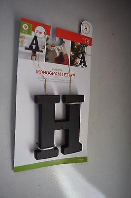 New Monogram H Stocking Accessory As Pin, Ornament Or F/stocking Holder Bronze