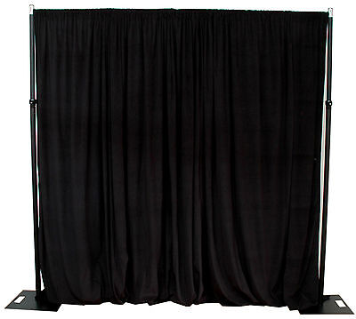 3x3m Black backdrop photography stand including black drape