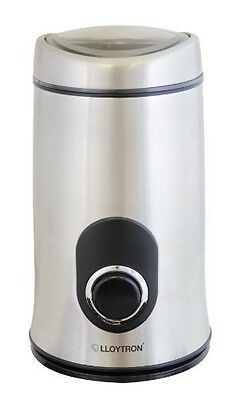 New LLoytron 150w electric Coffee Grinder - Stainless Steel E5602SS