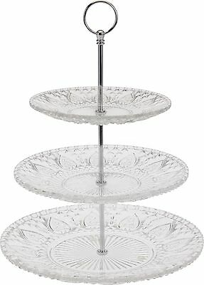 3 Tier Vintage Style Glass Cake Stand Wedding Cupcake Stand Food Biscuit Stand