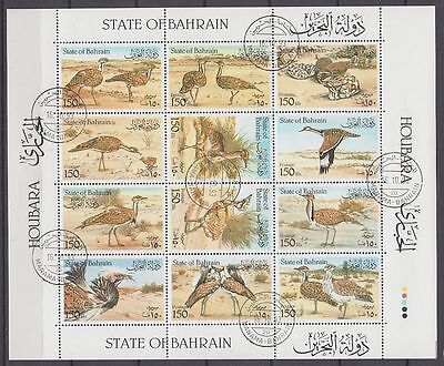 Bahrain 1990 used c.d.s. Mi.408/19 Tiere Animals Vögel Birds [g2238]