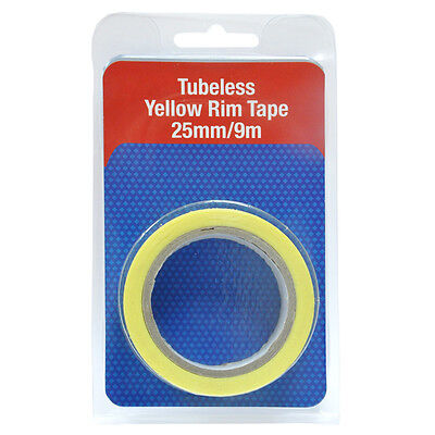 Joe's No-Flats Tubeless Yellow Rim Tape 9M X 25Mm
