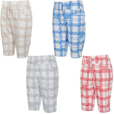 adidas Performance Womens ClimaLite Checked Golf Shorts - Size 12/14
