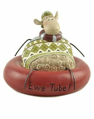 Blossom Bucket-SHEEP Christmas Figurine-EWE TUBE *So Cute**