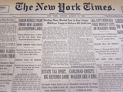 1931 August 16 New York Times - Martial Law In East Texas - Nt 4129