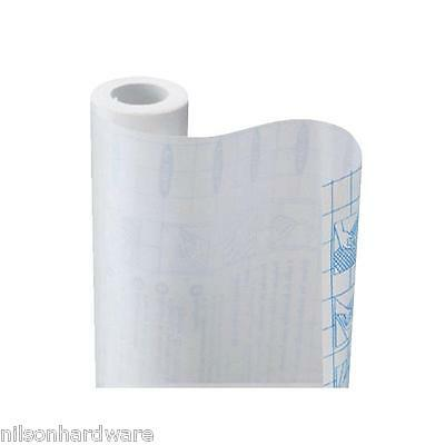 """3 Pk Con-Tact 18/"""" W X 9/' Solid White Self-Adhesive Shelf Liner 09F-C9953-01"""