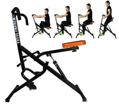 TOTAL CRUNCH RIDER 6 Pack Ab Trainer Body Building Shaper full Exercise UPGRADED
