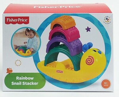 Fisher-Price Y2778 RAINBOW SNAIL STACKER Colourful Baby Stacking Toy