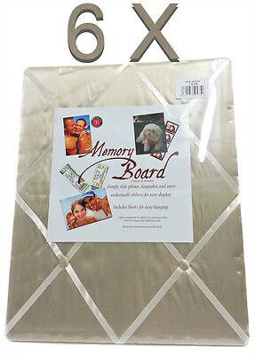 Wholesale Box Of 6 Cream Memory Board Slide Photos Under Ribbons Includes Hooks